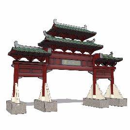 中式 牌坊 古典之七