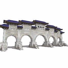 中式 牌坊 古典之九