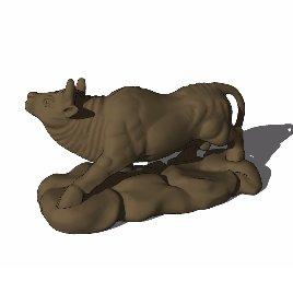 十二生肖 牛 动物 雕塑 美陈