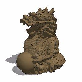十二生肖 龙 动物 雕塑 美陈