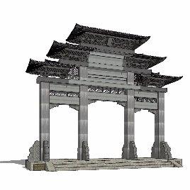中式 牌坊 古典 文明 文化 个性