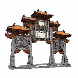 中式 牌坊 古典 皇宫 豪华