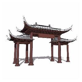 中式 牌坊 古典 藏羌 文明 文化 个性