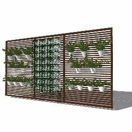 绿化 景观墙 植物墙 花架