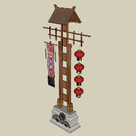 古镇中式店招幌子