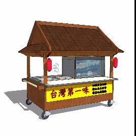 台湾 风格 售卖 销售 摆摊 亭