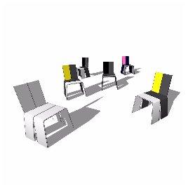 个性凳子 公园 环艺 现代 时尚 简约 椅子