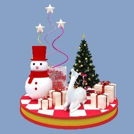 圣诞节礼品雪人装饰DP美陈