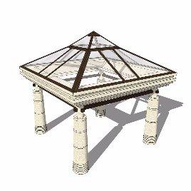 玻璃顶 穹顶  地中海 个性 凉亭