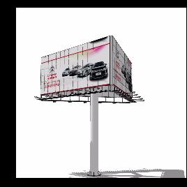 高炮 大型广告 立柱广告 高速公路立柱 三面