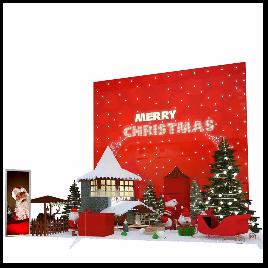 圣诞 圣诞树 展台 展示 美陈 圣诞树