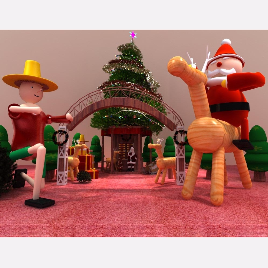 圣诞 门头 美陈 圣诞老人 展览 模型