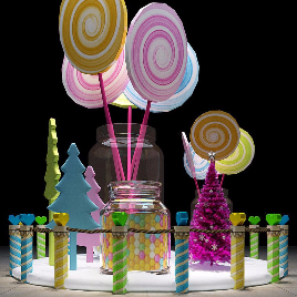 圣诞 糖果 美陈 展览 儿童 商场 棒棒糖 圣诞树