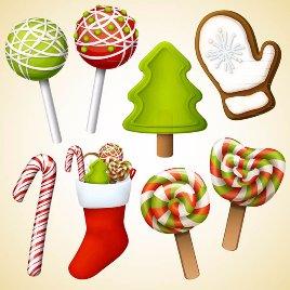 圣诞元素糖果