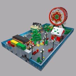 圣诞乐高模型