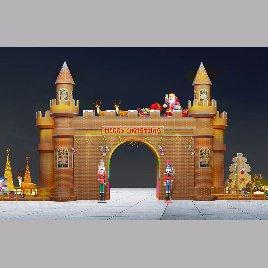圣诞城堡门头模型