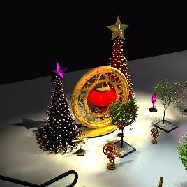 圣诞室外装饰  圣诞树