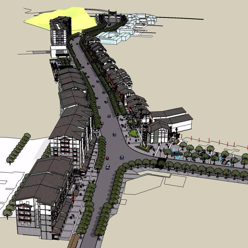 古镇商业街模型设计