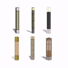 新中式灯柱