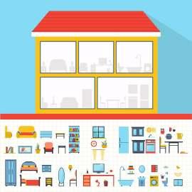 创意卡通房屋建筑