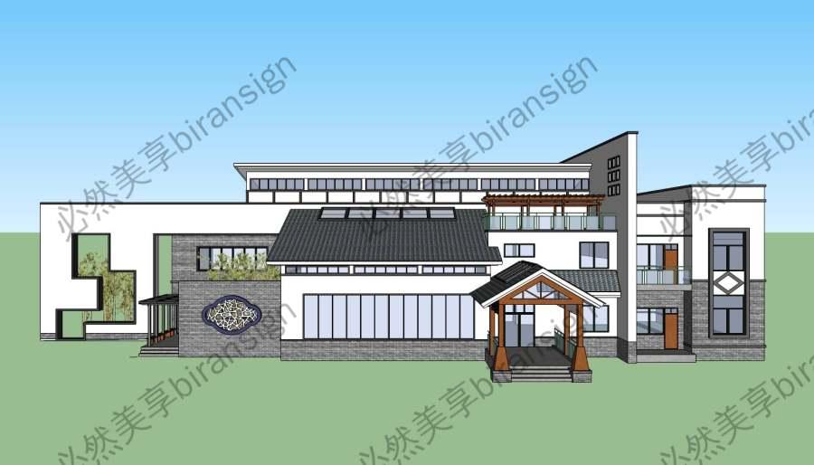 徽派新中式风格建筑