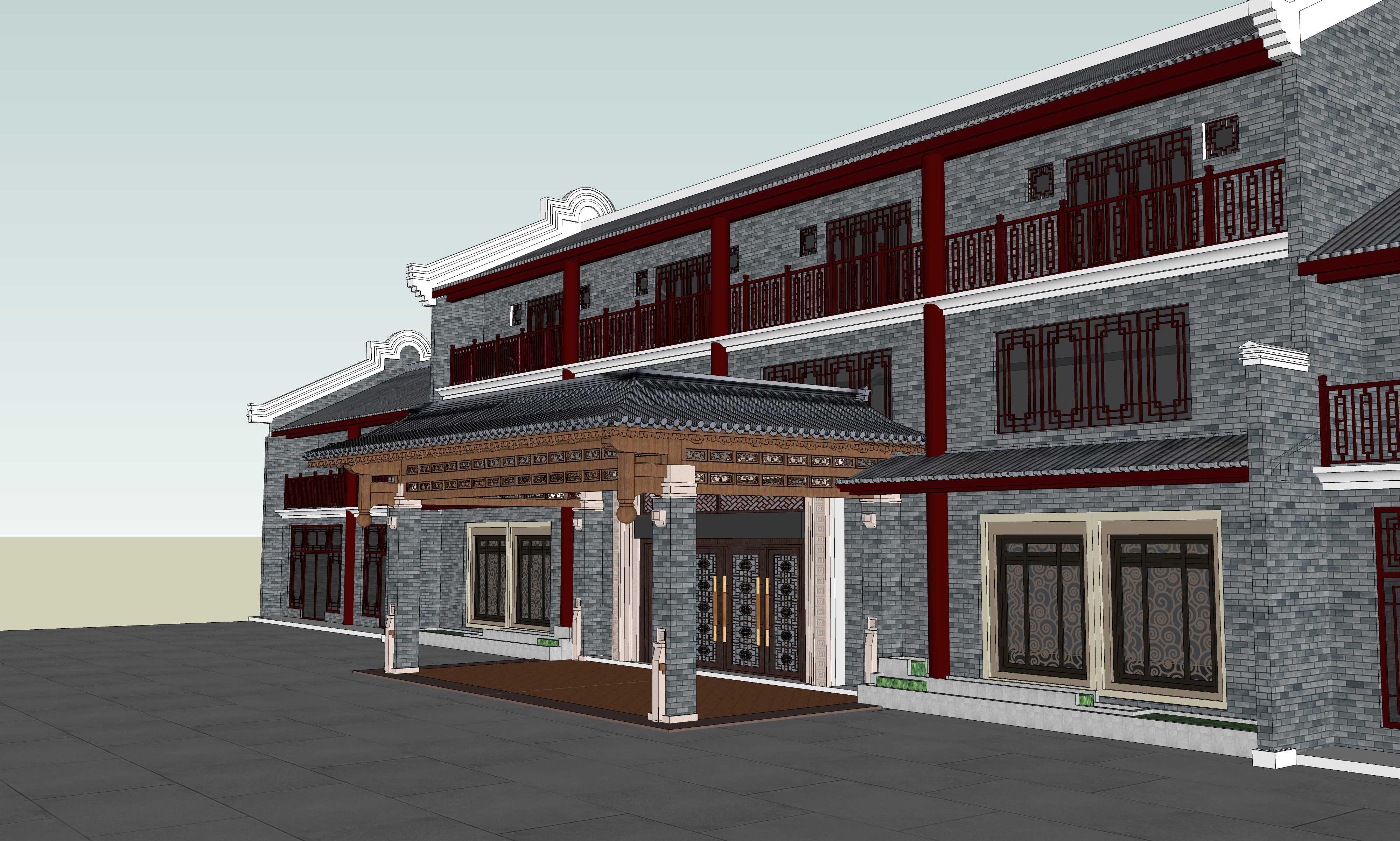 仿古建筑模型设计