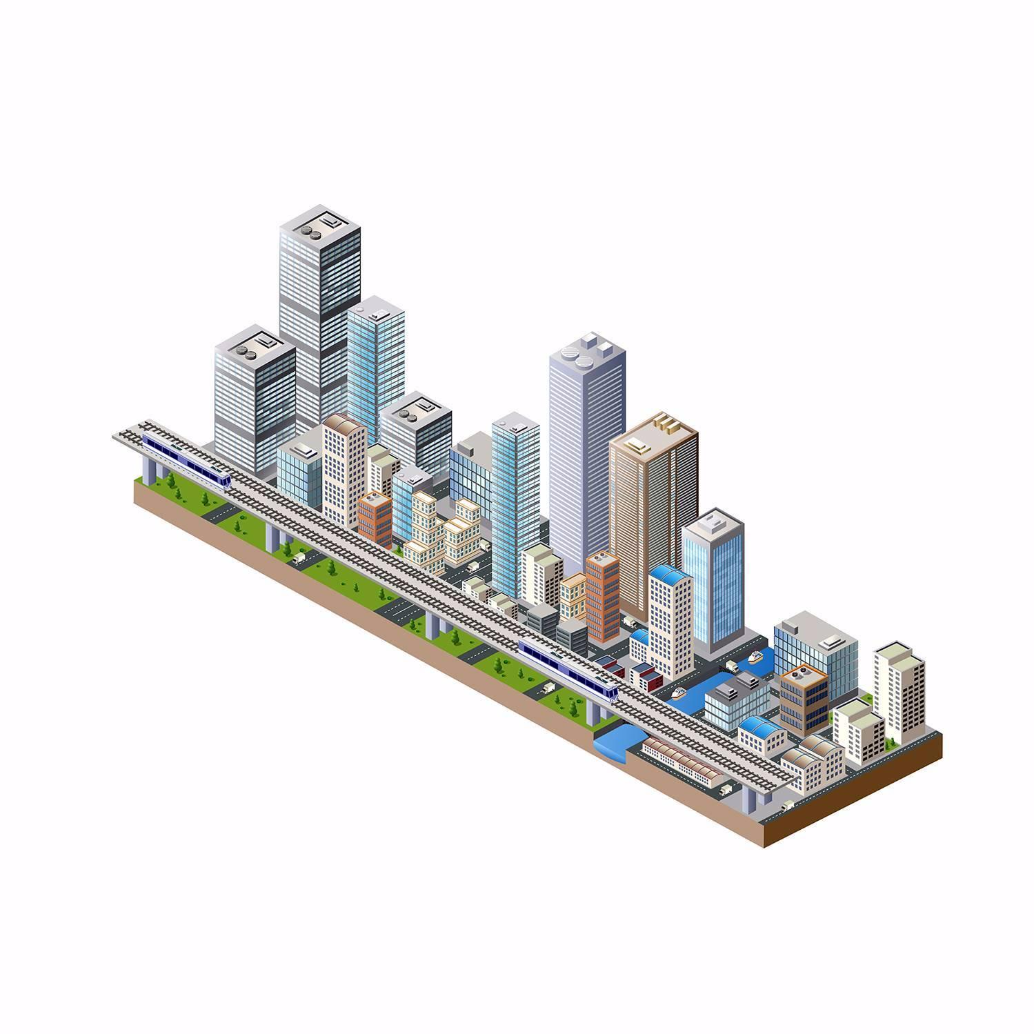卡通城市建筑