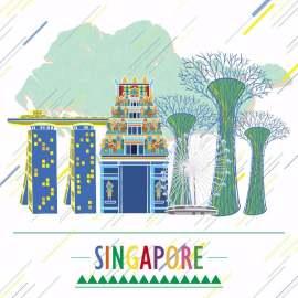 扁平化新加坡