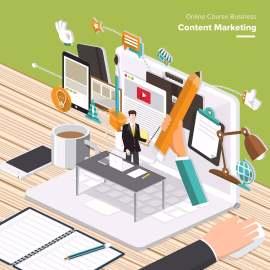 扁平化信息图商务市场策划卡通图标