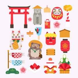 扁平化日本旅游