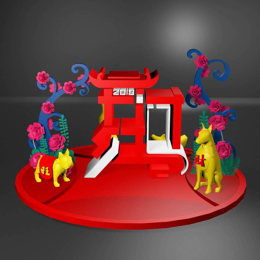 新年开门红美陈模型