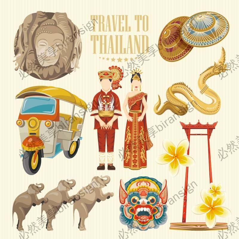 扁平化泰国特色素材