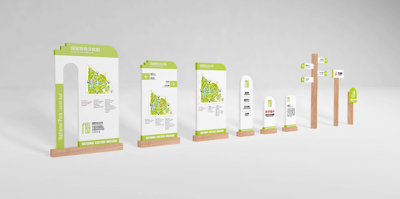 矢量公园导视标识设计
