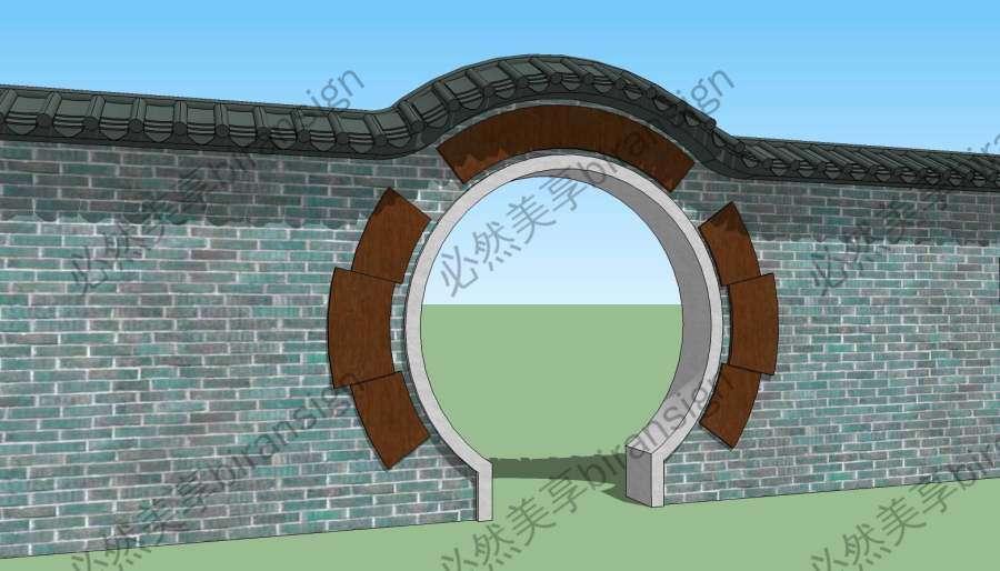中式月洞门