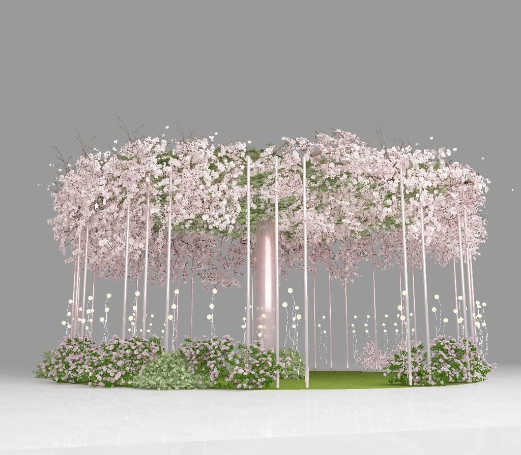 春季美陈,花主题中庭