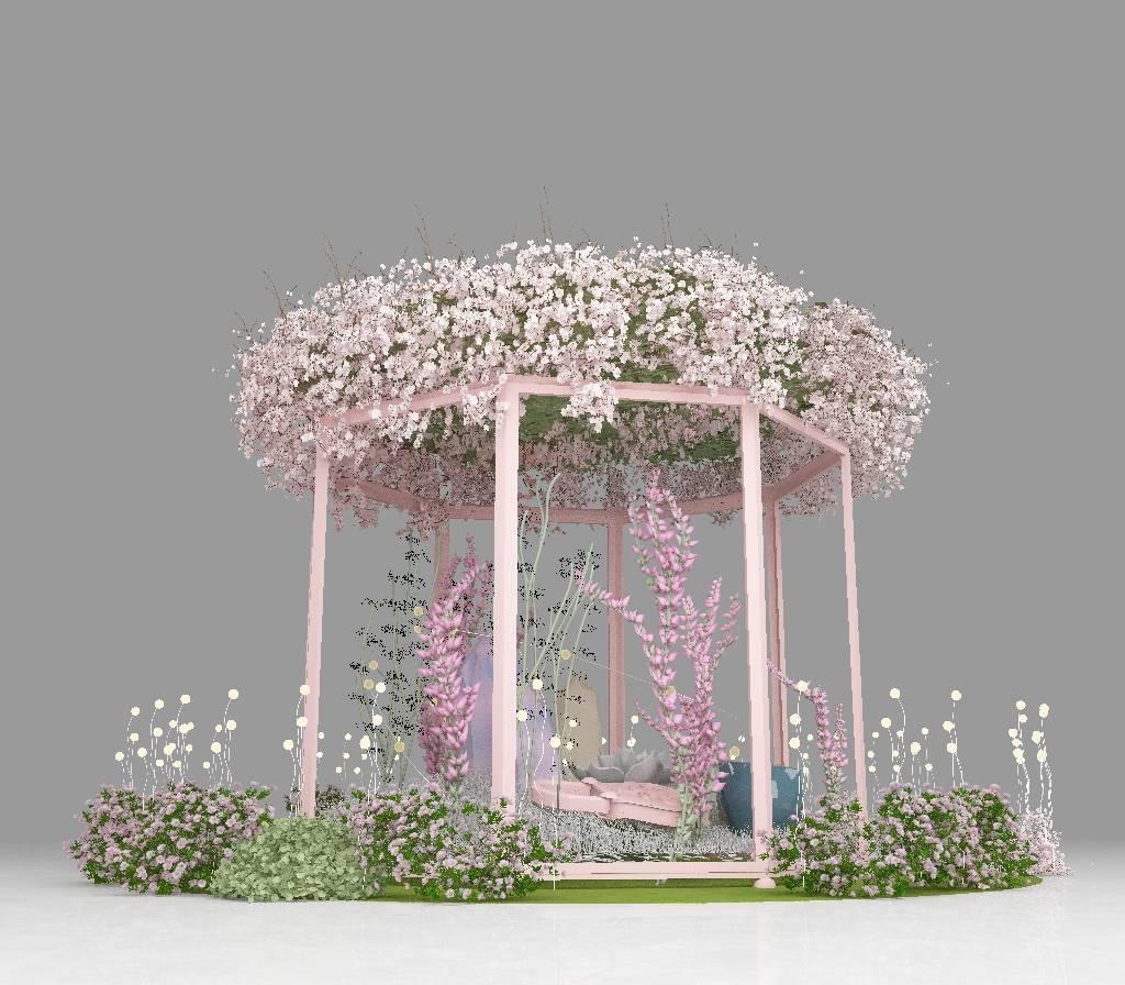 春季美陈,花系列,---小中庭DP