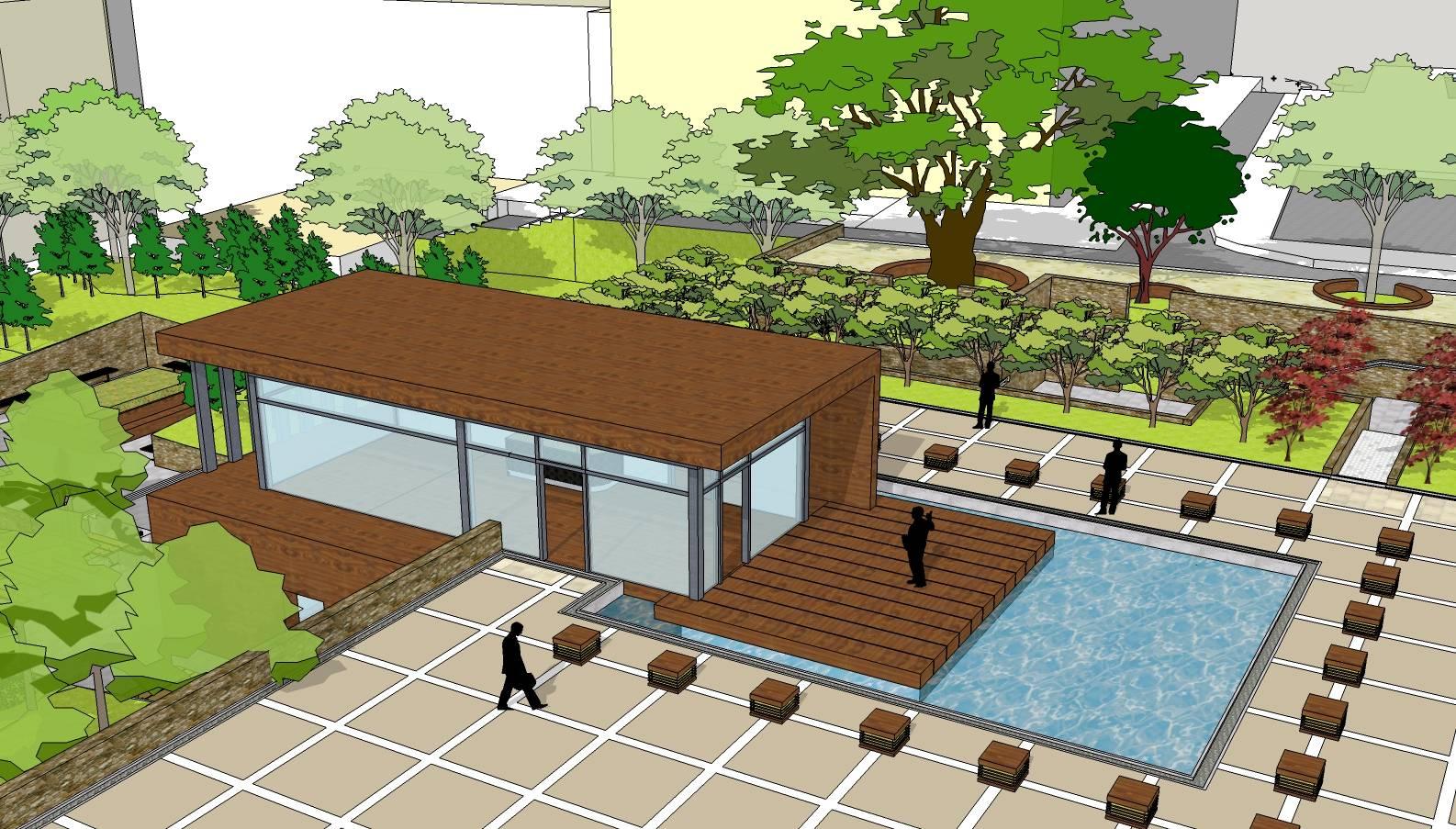 小型广场设计模型