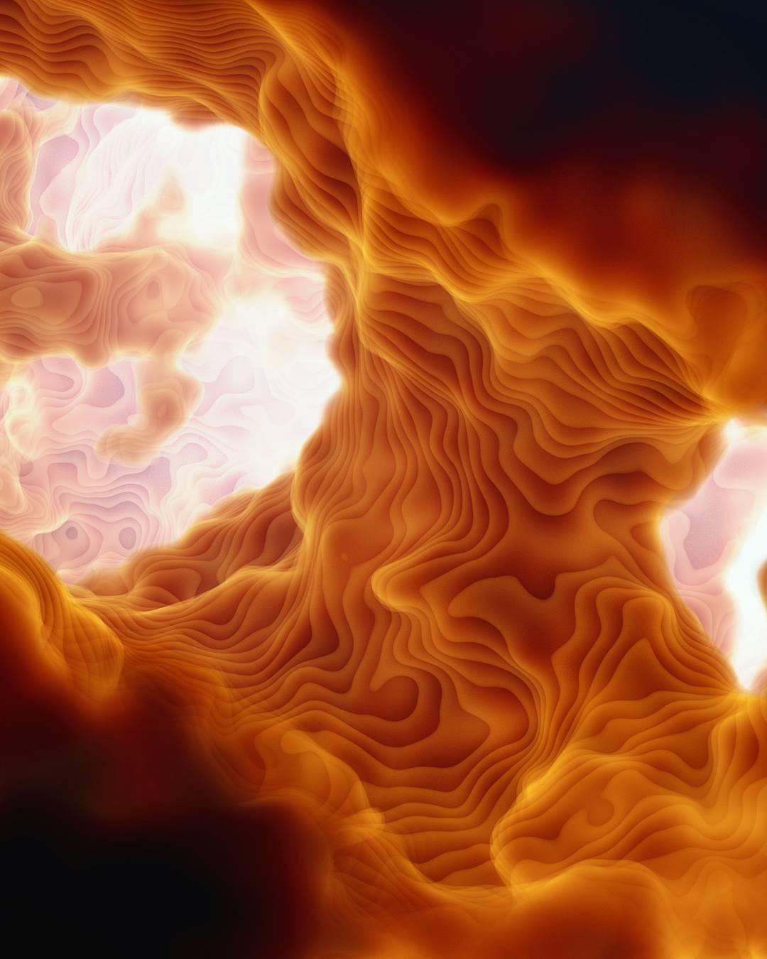 c4d炫彩云层珊瑚云朵天空层级模型_c4d 素材【必然网