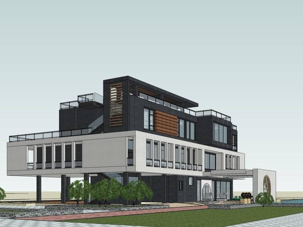 现代主义别墅模型3层所风格马健凯别墅v别墅图片