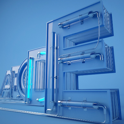 26个英文字母霓虹灯文字模型预设