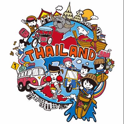 扁平化泰国景区
