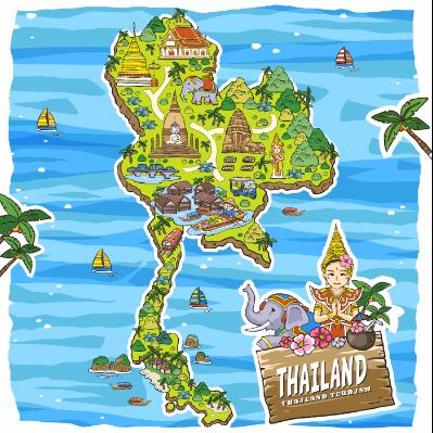 扁平化泰国旅游景点