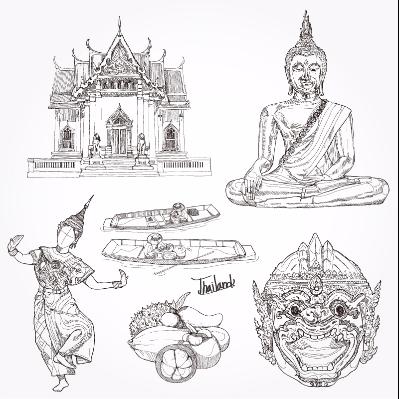 矢量泰国特色素材