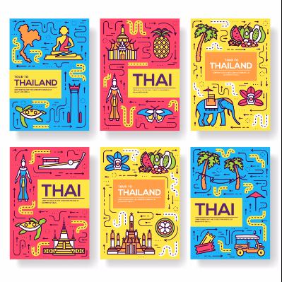 扁平化泰国特色图片