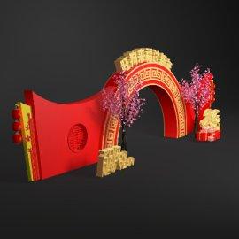 新年节日门头设计