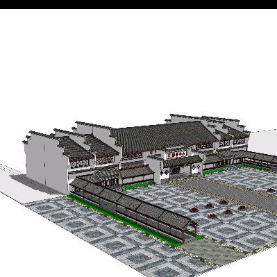 游客中心建筑模型