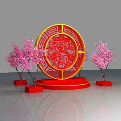 2018春节美陈雕刻春