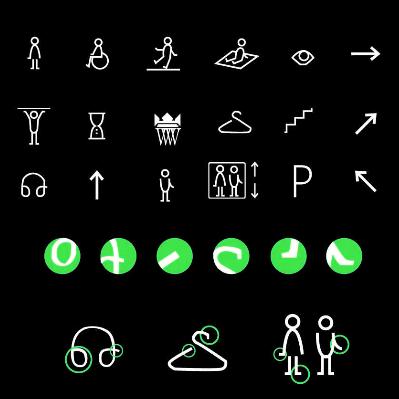波兰黑白绿小图标