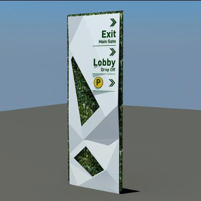 个性绿色导视立牌