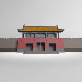 中式古城楼模型